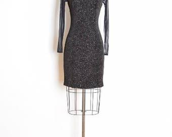 early 90s dress, mesh cut out dress, sheer mesh dress, black dress, glitter dress, 90s mini dress, 90s party dress bandage dress 90s bodycon