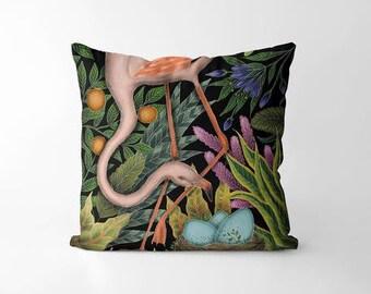 Flamingo & her Nest Cushion