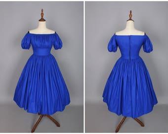Loretta Dress in Solid Cobalt Blue