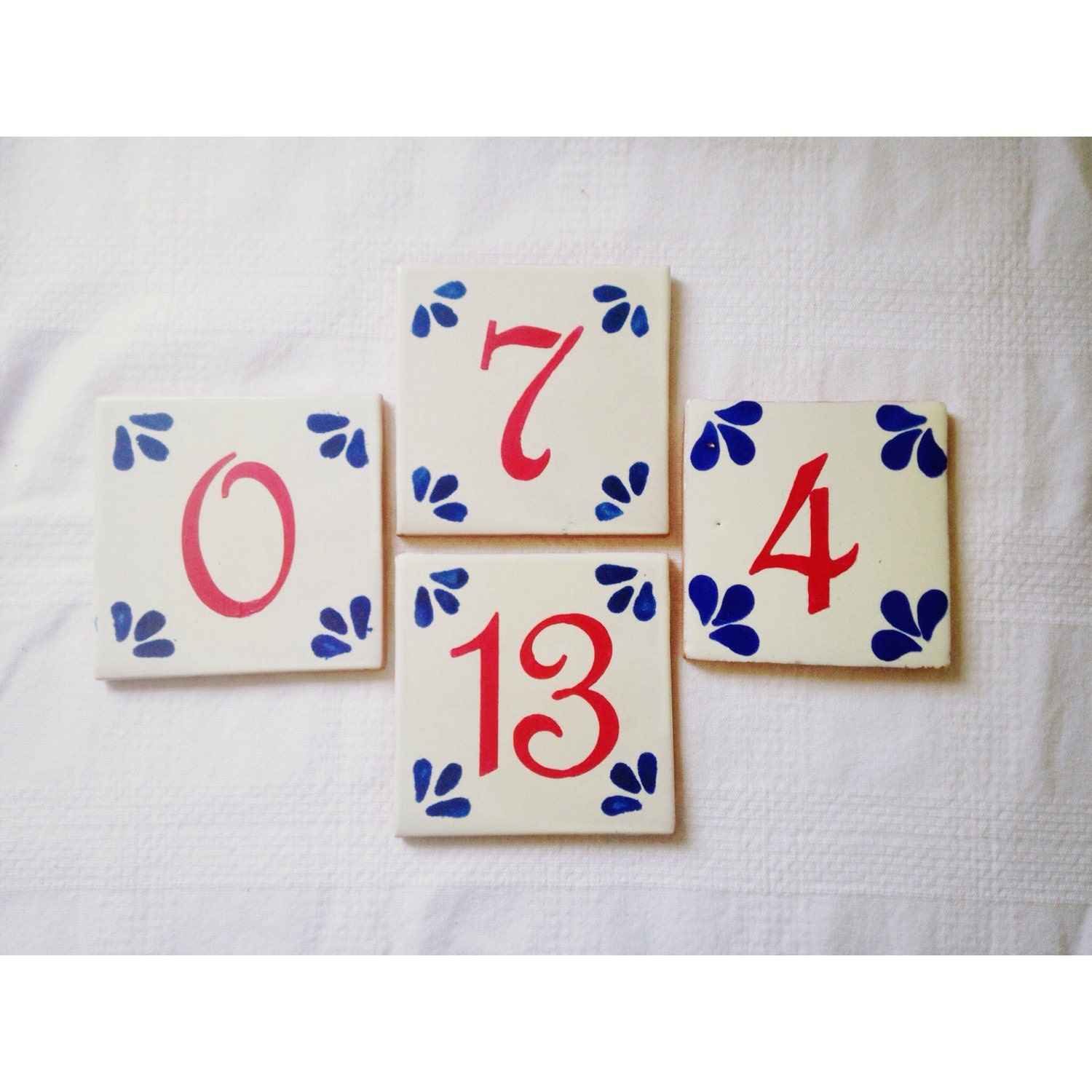 Hand painted Spanish/Mexican Tile Wedding Table Numbers