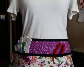 Beautiful butterfly apron with purple background #1