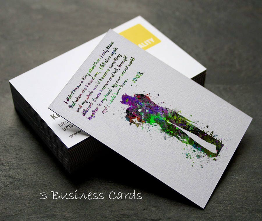 Three Business Cards Joker and Harley Quinn Inspired Quote