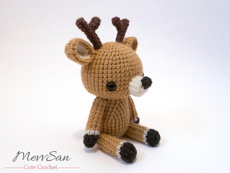 Amigurumi Reindeer Free Pattern : Crochet pattern pdf amigurumi woodland critter deer crochet