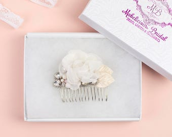 Hairpiece UK - Bridal Haircomb - New Luxury 'Flora' Bridal Hair Piece - Wedding Haircomb UK - Bridesmaid Hair Comb - Bridal Hair UK
