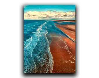 Beach print, PRINTABLE ART, Landscape Ocean poster, Aerial beach photography print, Coastal wall decor, Coastal prints, wall art, Wall decor