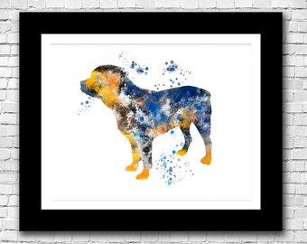 Dog Art Abstract Watercolor Print