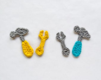 Instant Download - PDF Crochet Pattern - Tools Applique - Text instructions and SYMBOL CHART instructions