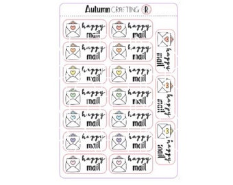 Happy Mail Envelope Stickers