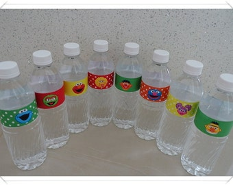 Sesame Street Water Bottle Labels
