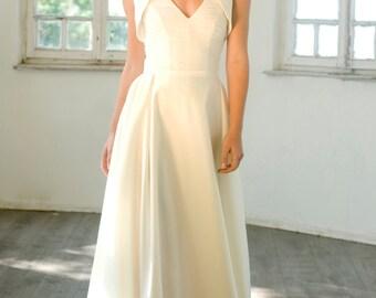 Wedding Dress, Long Dress, Bridal Dress, Wedding Gown, Maxi Wedding Dress, Boho Wedding Dress, Beach Wedding Dress, Open Back Wedding Dress