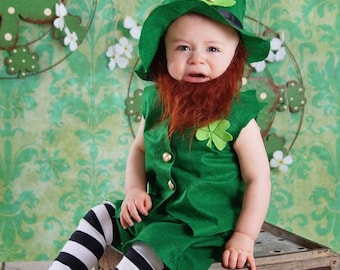 Babys Leprechaun Costume, Boys or Girls Costumes, Leprechaun Costume, Baby Leprechaun Costume, St. Patricks/Irish Outfit/MYSWEETCHICKAPEA