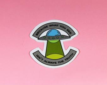 UFO Same Parts Vinyl Sticker