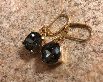 smoky quartz inspired dangle earings