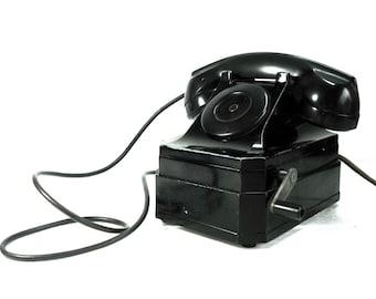 Vintage Telephone Stromberg-Carlson  Black Crank Telephone