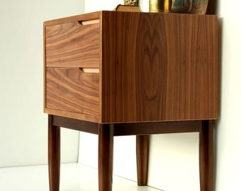 Walnut Bedside Table/ Nightstand/ Custom Made/ Walnut Wood