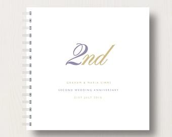 Personalised 2nd Anniversary Memories Book or Album