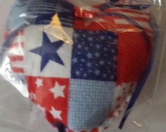 Patriotic Heart Ornament