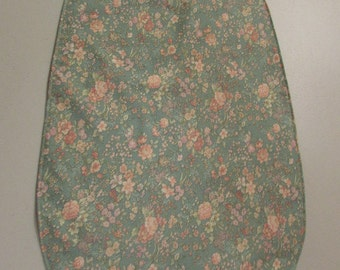 Medium flowered Adult Clothing Protector Bib ( # 570)