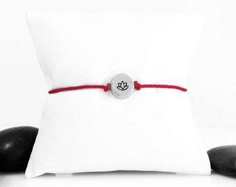 Lotus Flower Sterling Silver Bracelet, Lotus Charm, Lotus Bracelet, Lotus Jewelry, Silver Lotus, Lotus Flower Bracelet