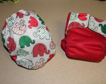 Santa Diaper Grab Bag -Big Holiday Sale 55% off Christmas AIO cloth diaper (regularly 18.00 now 8.00)