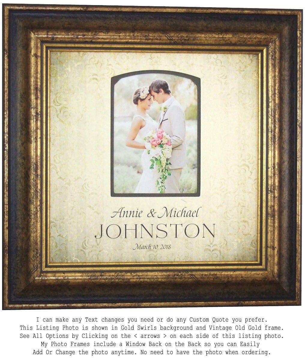 Wedding Gift Photo Frame: Wedding Gift Bride Groom Wedding Photo Frame Wedding Gift