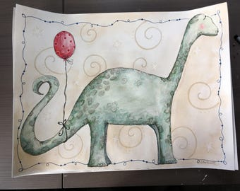 Brachiousaurus and Red Balloon