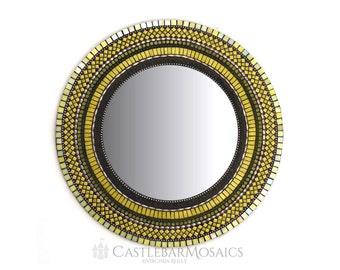 "Mosaic Mirror 24"" - Grand Olivine"