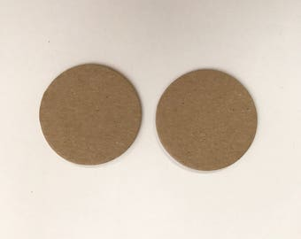 "1.5"" Chipboard Circles, Die cut circles, Game board pieces, Bare chipboard, DIY Craft project,"