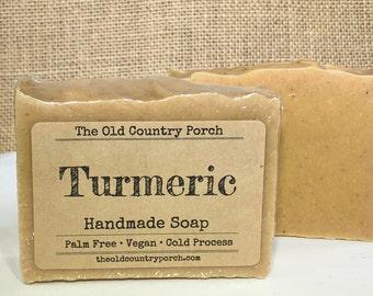 Turmeric Soap, Unscented Natural Soap, All Natural Soap, Handmade Soap, Vegan Soap, Palm Free Soap