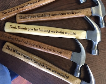 Gift for Dad, Engraved Hammer, Personalized Hammer, Custom Hammer, Groomsmen Hammer, Father of the Bride Gift