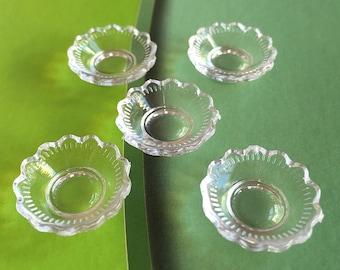 2/4pcs.Miniature Acrylic Dessert Bowl,Miniature Bowl,Miniature Plate,Miniature food,Dollhouse Bowl,Dollhouse miniature,Miniature food,DIY