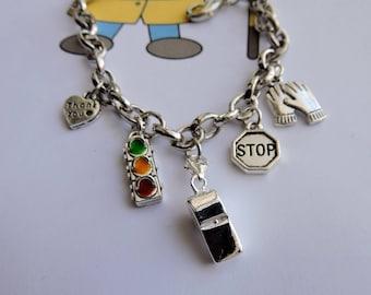 School Crossing Guard Charm Bracelet, School Crossing Gift, School Crossing Guard Appreciation Gift