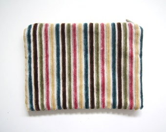 Zipper pouch | multi-colour stripes | 20cm x 14.5cm