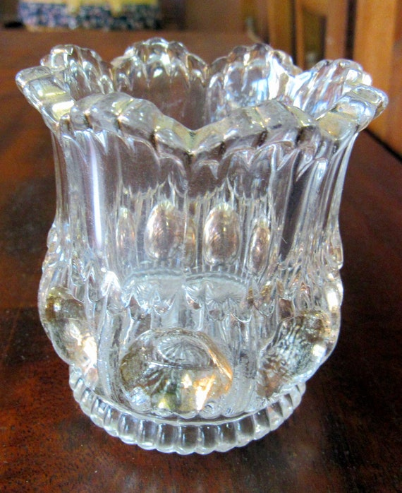 Clear and gold toothpick holder