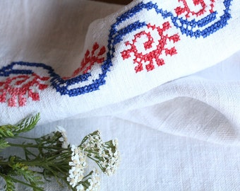 D 73: handloomed linen antique charming TOWEL napkin, LAUNDERED,리넨, decoration; tablerunner