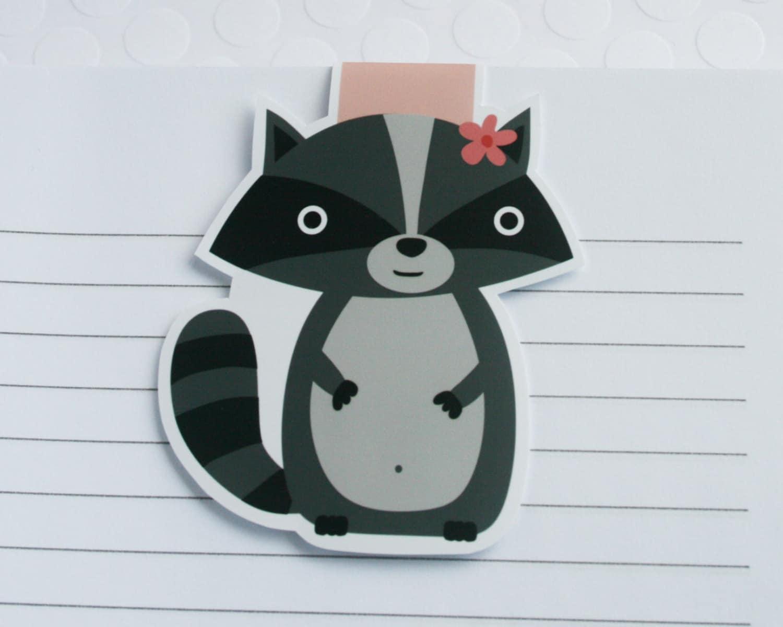 Waschbär magnetische Lesezeichen süße Waschbär Büroklammer