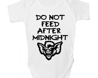 Do Not Feed After Midnight Gremlins Baby Grow