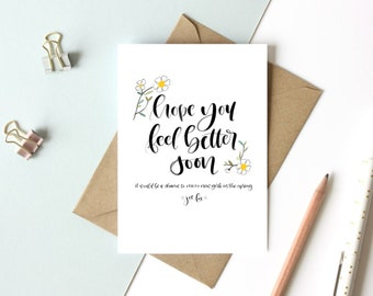 You've Got Mail Get Well Card - A2 4 1/4 x 5 1/2 Digital Print