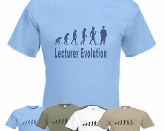 Evolution To Lecturer t-shirt Scholars T-shirt sizes Sm TO 2XXL