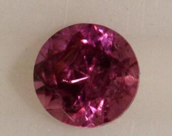 Pink Sapphire 1.81cts Round Cut 7.00mm Madagascar H9 Y9397 Gem Loose Faceted Gemstone Collector Gemology Gemological