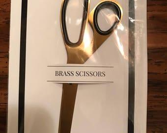Brand New Cloth & Paper Brass Scissors