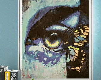 The Seer. Cardstock or Wrapped Canvas. professional art print - many sizes available - Butterfly Wing Eye