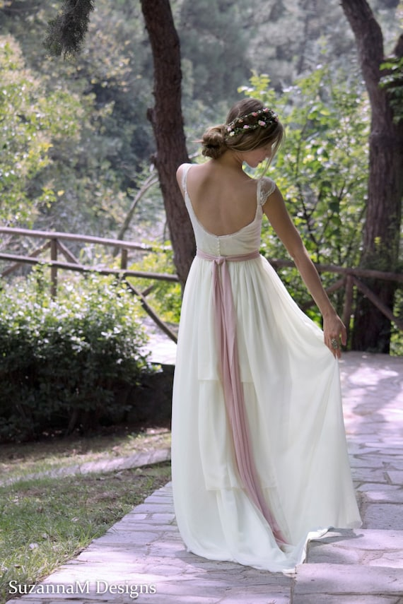 Wedding Dress Gypsy Wedding Dress Long Bridal Gown Boho