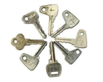 Car keys Friend gift Set of keys Skeleton keys bulk Lock keys Retro Industrial keys necklace Steampunk Iron keys Instant collection USSR