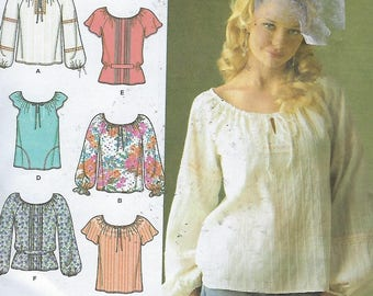 Simplicity 4177  Misses' Top with Sleeve Trim Variations  Size (16-24)  UNCUT