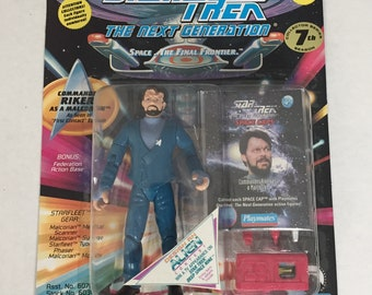 Star Trek The Next Generation William Riker Malcorian Disguise 1994 Action Figure