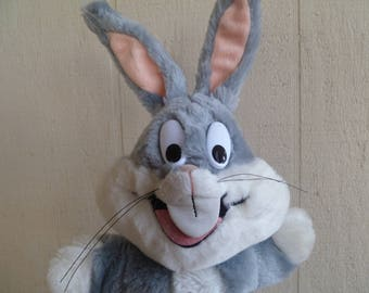 Bugs Bunny Plush Hand Puppet  1993 Warner Bros 24K Mighty Star