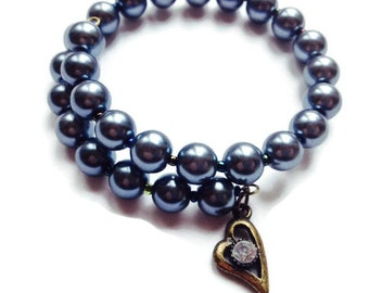 Eco Friendly Heart Charm Bracelet - Also Available As A Kit