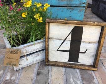 READY TO SHIP - Number Sign - 4