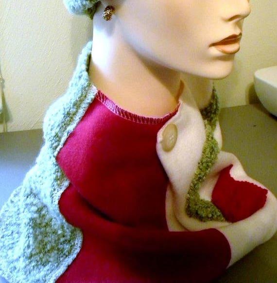 SALE klobigen Haube Kunst-to-Wear Damen Schal OSZ Made